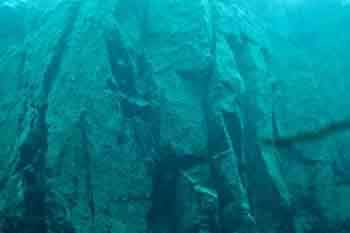 Preston hill quarry underwater