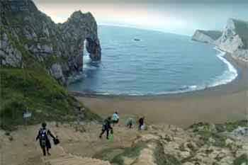 Durdle Door entry/exit