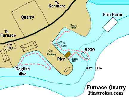 Dive map for Furnace quarry