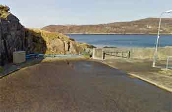 Lochinver Harbour Wall site entry/exit