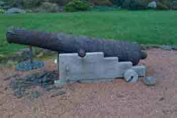 Portencross galleon cannon