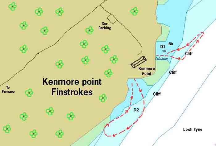 Kenmore point dive map