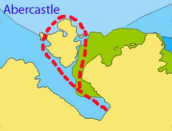 Abercastle dive map