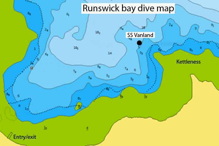 Runswick bay dive map
