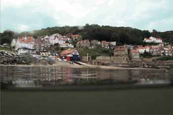 Runswick bay from the water
