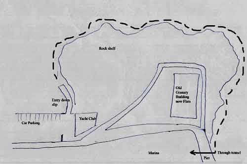 Elie harbour dive map