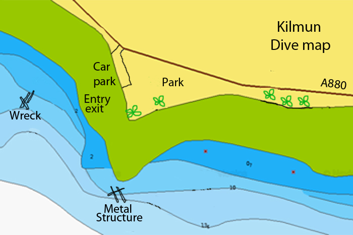 Kilmun dive map