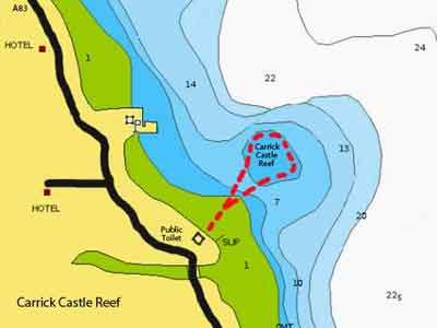 Carrick castle reef dive map